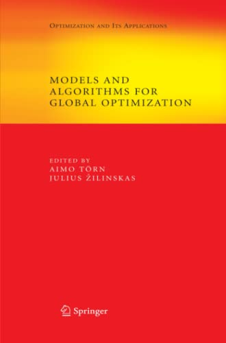 Models and Algorithms for Global Optimization By Aimo Toern