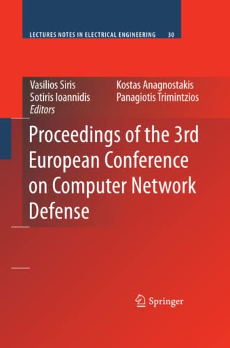 Proceedings of the 3rd European Conference on Computer Network Defense By Vasilios Siris