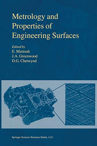 Metrology and Properties of Engineering Surfaces By E. Mainsah