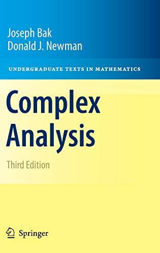 Complex Analysis By Joseph Bak