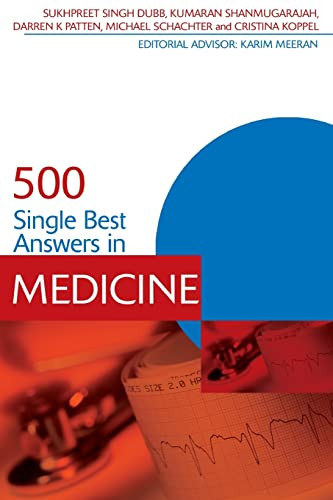500 Single Best Answers in Medicine (Medical Finals Revision Series) By Sukhpreet Singh Dubb