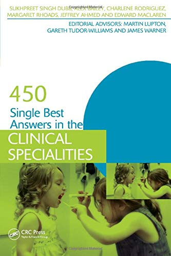 450 Single Best Answers in the Clinical Specialities By Sukhpreet Singh Dubb