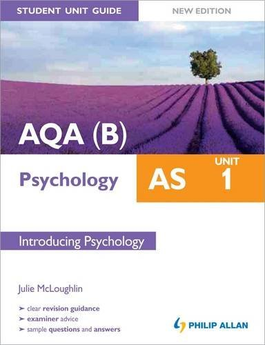 AQA(B) AS Psychology Student Unit Guide New Edition: Unit 1 Introducing Psychology By Julie McCloughlin