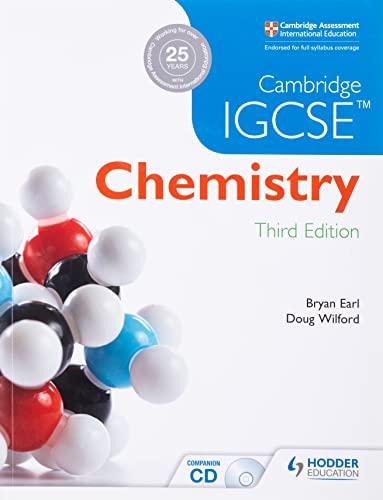Cambridge IGCSE Chemistry 3rd Edition plus CD von Bryan Earl
