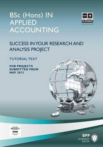 ACCA - Oxford Brookes Project Book By BPP Learning Media