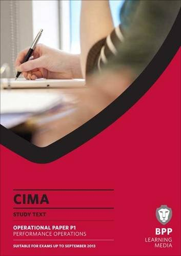 CIMA - Performance Operations: Study Text by BPP Learning Media