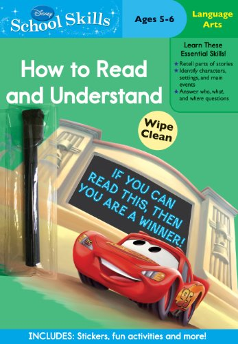 Disney School Skills: Cars How to Read and Understand by