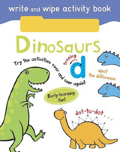 Write and Wipe Activity - Dinosaurs By Parragon Books