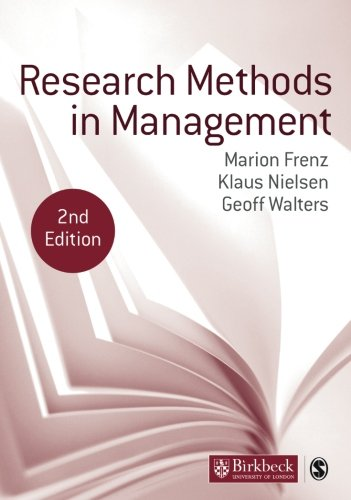 Research Methods Management by Marion Frenz