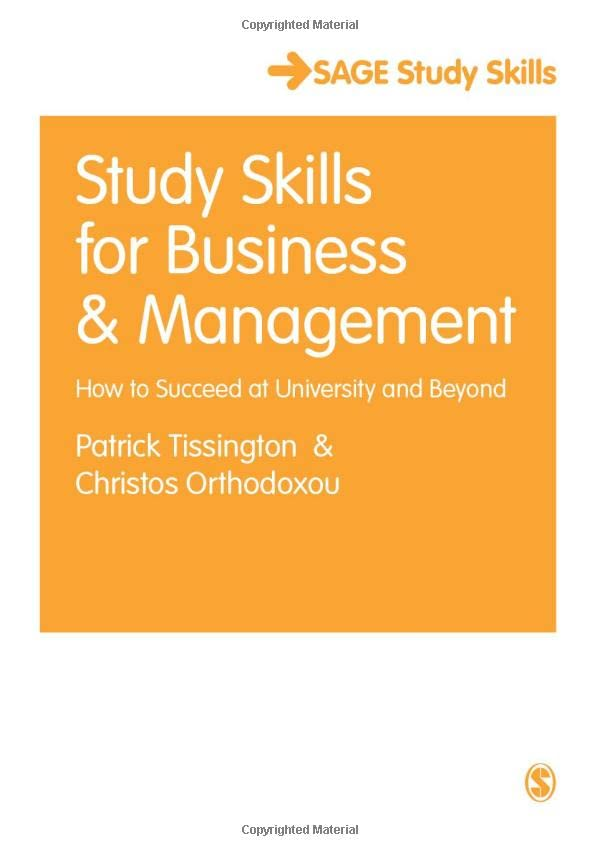 Study Skills for Business and Management By Patrick Tissington