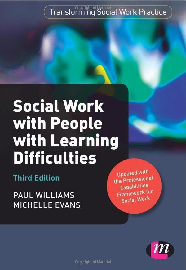 Social Work with People with Learning Difficulties By Paul Williams