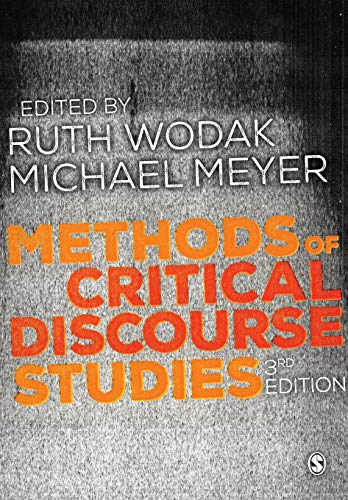 Methods of Critical Discourse Studies By Edited by Ruth Wodak