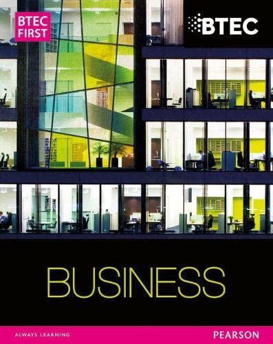 BTEC First Business Student Book By Carol Carysforth
