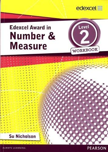 Edexcel Award in Number and Measure Level 2 Workbook By Su Nicholson
