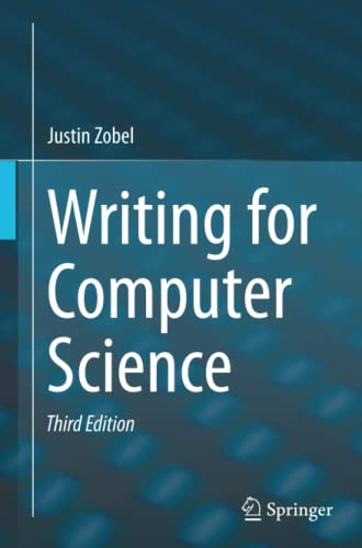 Writing for Computer Science By Justin Zobel