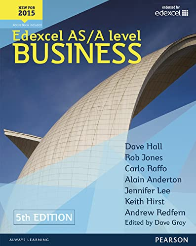 Edexcel AS/A level Business 5th edition Student Book and ActiveBook By Dave Hall