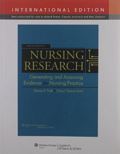 Nursing Research By Denise F. Polit