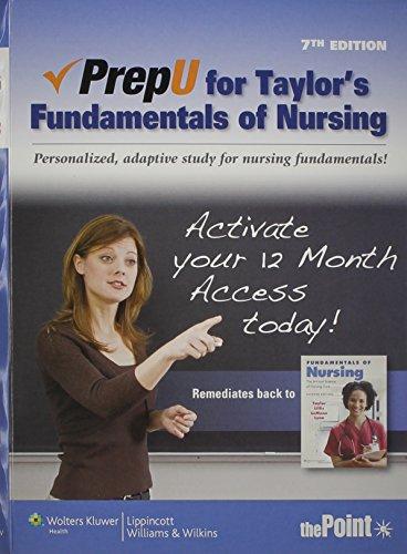 PrepU for Taylor's Fundamentals of Nursing By Carol Taylor