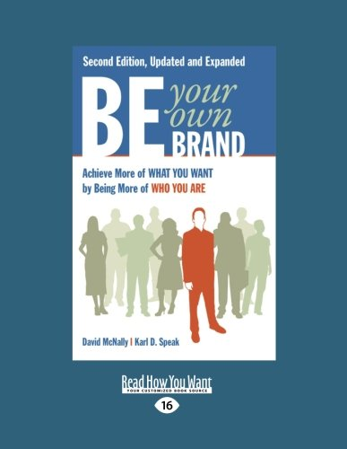 Be Your Own Brand (1 Volume Set) By Karl D Speak