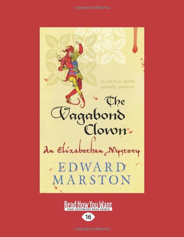 The Vagabond Clown: An Elizabethan Mystery By Edward Marston