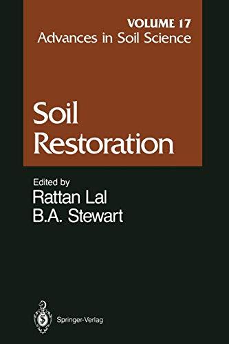 Advances in Soil Science By J.K. Cronk