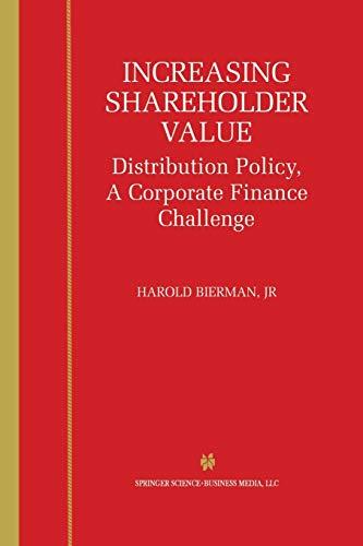 Increasing Shareholder Value By Harold Bierman Jr.