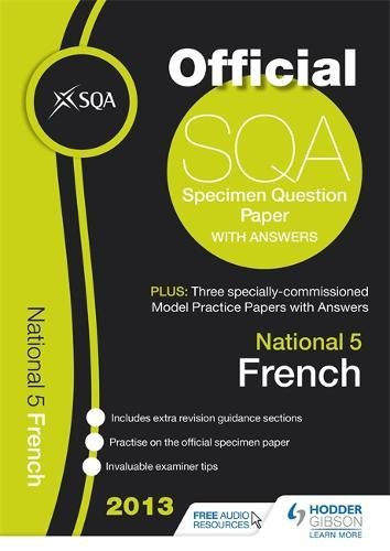 SQA Specimen Paper National 5 French and Model Papers By SQA