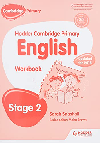 Hodder Cambridge Primary English: Work Book Stage 2 By Sarah Snashall