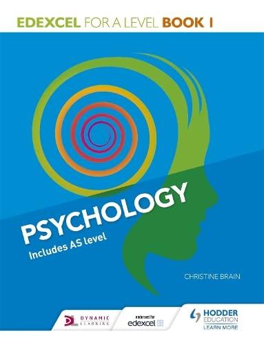 Edexcel Psychology for A Level Book 1 By Christine Brain