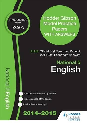 SQA Specimen Paper, 2014 Past Paper National 5 English & Hodder Gibson Model Papers By SQA