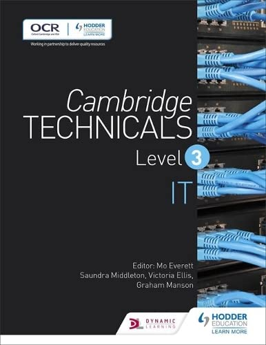 Cambridge Technicals Level 3 IT By Victoria Ellis