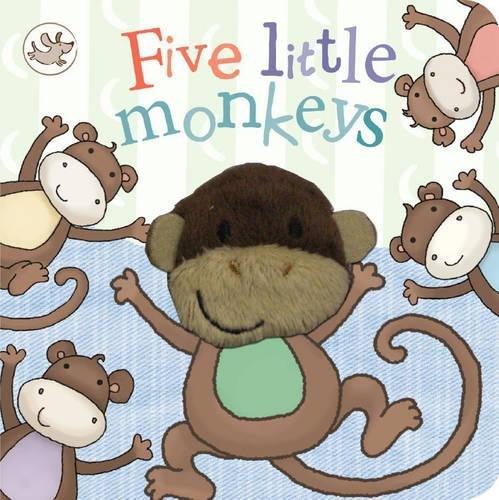 Little Learners Five Little Monkeys Finger Puppet Book By Parragon Books Ltd
