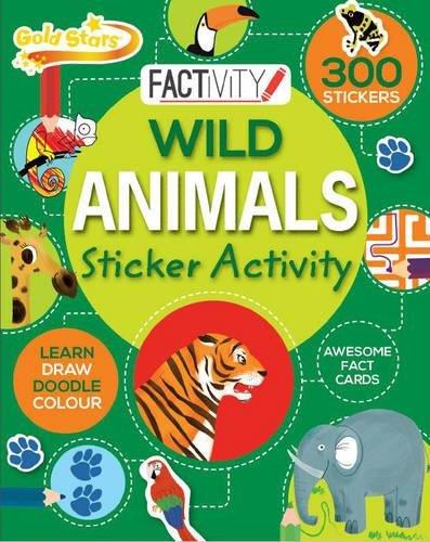 Gold Stars Factivity Wild Animals Sticker Activity By Lisa Miles