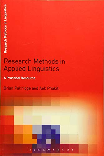 Research Methods in Applied Linguistics By Edited by Aek Phakiti