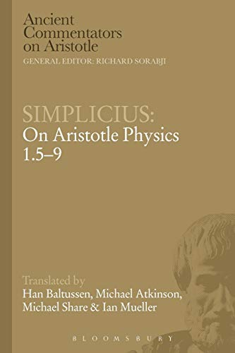 Simplicius: On Aristotle Physics 1.5-9 By Han Baltussen