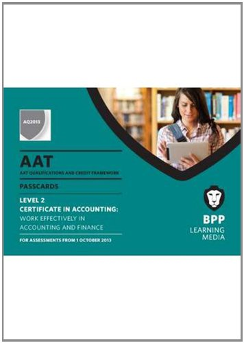 AAT Work Effectively in Accounting and Finance: Passcards By BPP Learning Media