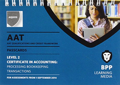 AAT Processing Bookkeeping Transactions By BPP Learning Media