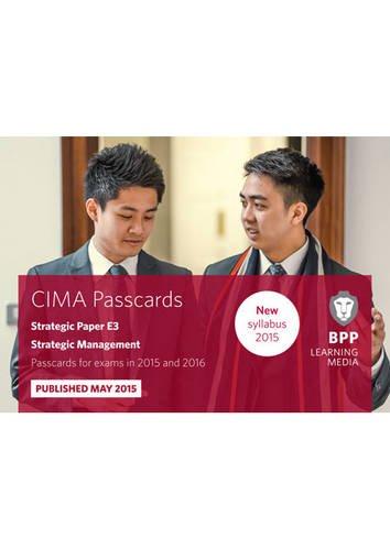 CIMA E3 Strategic Management: Passcards by BPP Learning Media