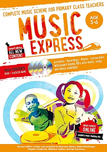 Music Express: Age 5-6 (Book + 3 CDs + DVD-ROM) By Helen MacGregor