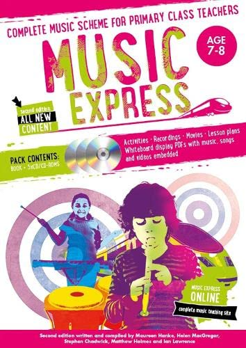 Music Express: Age 7-8 (Book + 3CDs + DVD-ROM) By Helen MacGregor