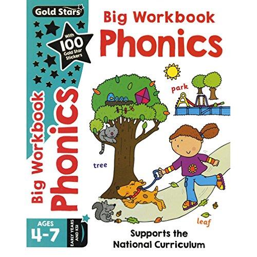 Gold Stars Big Workbook Phonics Ages 4-7 Early Years and KS1 By Nina Filipek