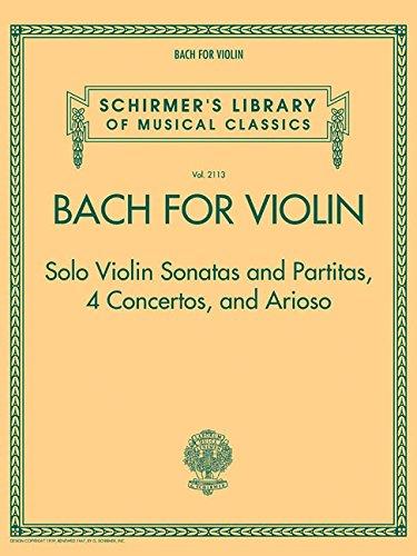 Bach for Violin By Johann Sebastian Bach