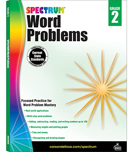 Word Problems, Grade 2 By Spectrum