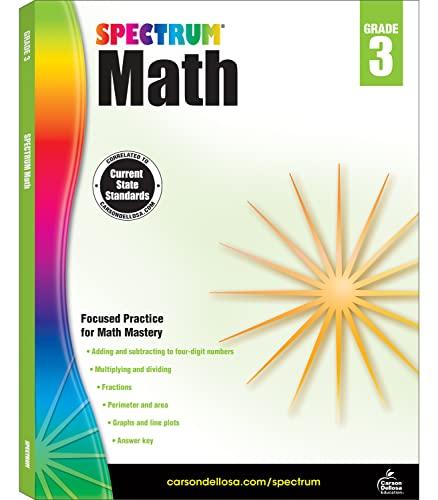 Spectrum Math Workbook, Grade 3 By Spectrum