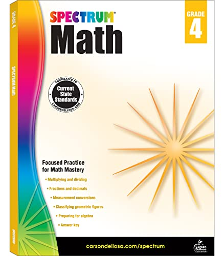 Spectrum Math Workbook, Grade 4 von Spectrum