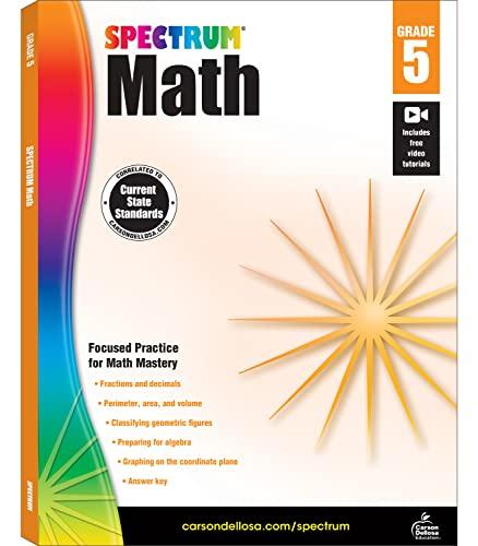 Spectrum Math Workbook, Grade 5 By Spectrum