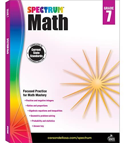 Spectrum Math Workbook, Grade 7 By Spectrum