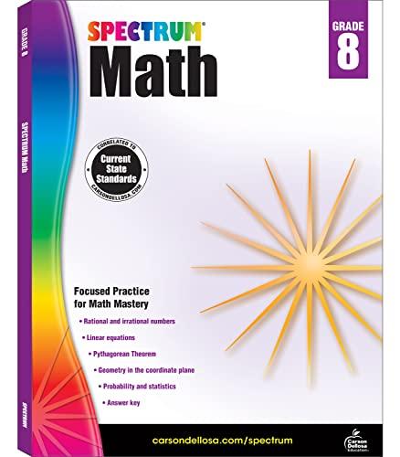 Spectrum Math Workbook, Grade 8 By Spectrum