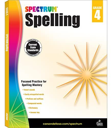 Spectrum Spelling, Grade 4 By Spectrum