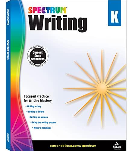 Spectrum Writing, Grade K By Spectrum